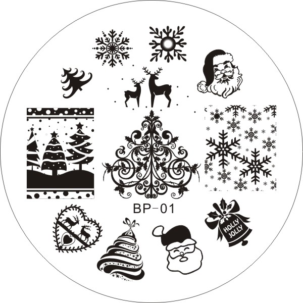 Гаджет  Christmas XMAS Theme Nail Art Stamp Template Image Plate  # 16848 None Красота и здоровье