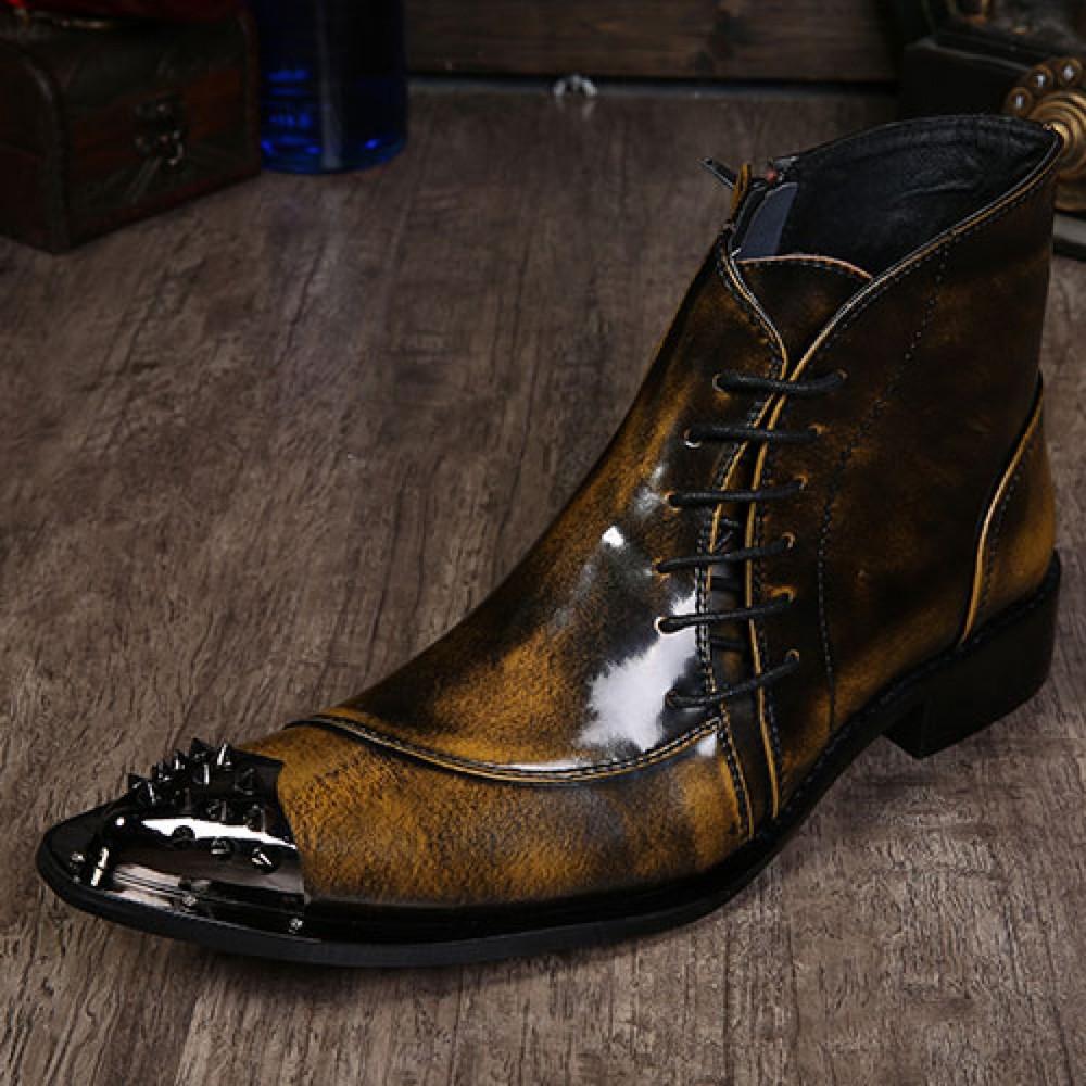 British retro pointy leather harness boot Korean tide hairstylist Martin boot(China (Mainland))