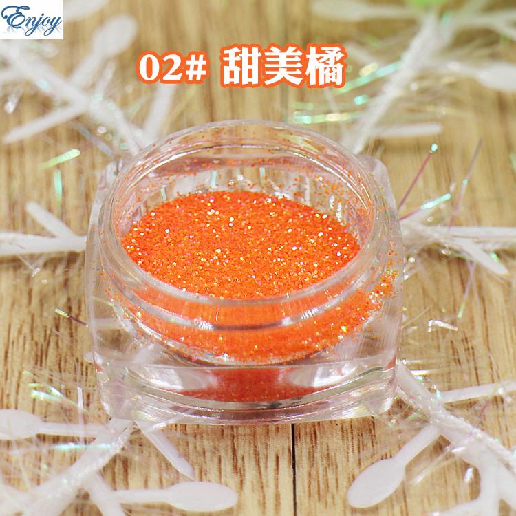 1/128(0.2mm) Normal series orange Color UV Glitter Powder Nail Toe Art Decorations #02(China (Mainland))