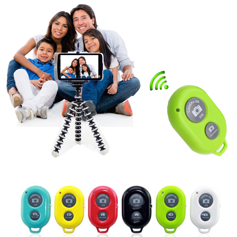 Wireless Selfie Bluetooth Remote Control Shutter Monopod for iphone ipad samsung Self-timer Selfie remoto controle Release(China (Mainland))