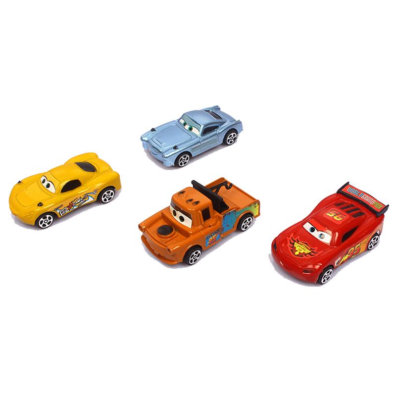 Original Pixar Car Toy 8 cm Mack Mater etc 4 Pcs/Set Opp bag Pakcage PVC Collection Model Car Toy(China (Mainland))
