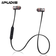 IPUDIS Magnet Metal Sports Bluetooth Earphone Wireless Earbud Stereo Headset With Mic(China (Mainland))