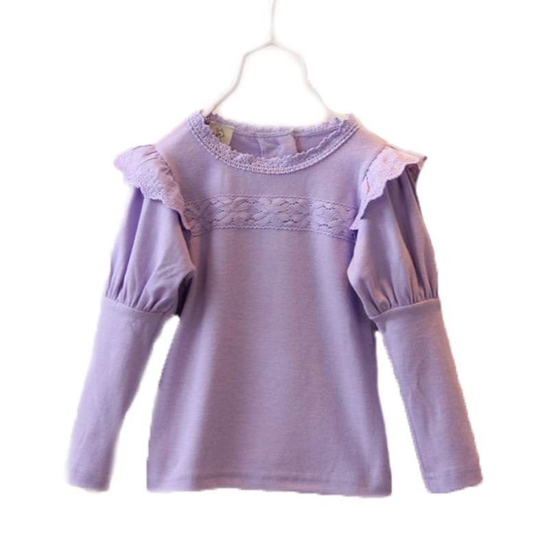 2016 Baby Clothing Girl Knitted Sweater Winter Autumn Wear Lantern Sleeve Lace Sweaters Sweet Baby Girls Winter Cardigan 2T-7T(China (Mainland))