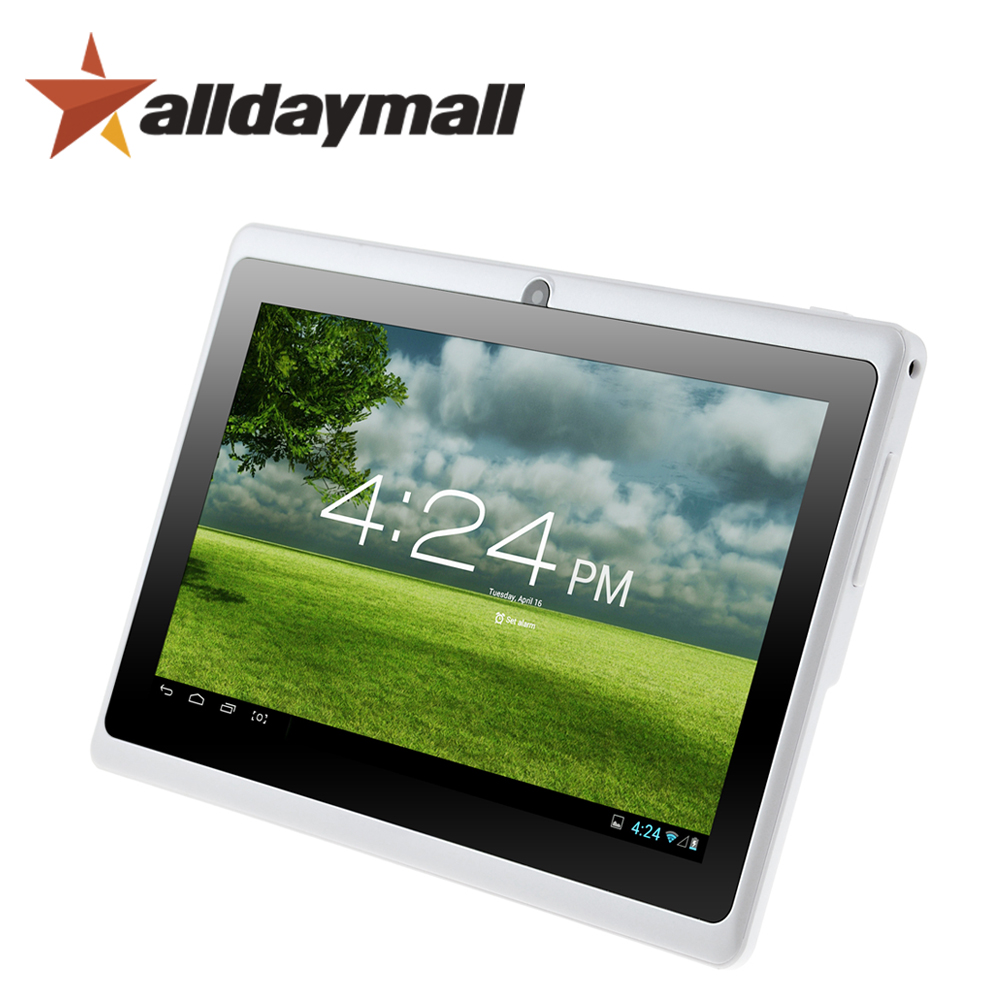 "Alldaymall A88X 7"" Tablet PC Android 4.4 Kitkat Quad Core 1024*600 HD Android Tablet 7 inch White Tablets Allwinner A33 Dual Cam(China (Mainland))"