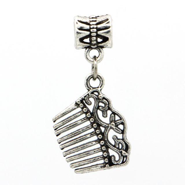 1 шт. бесплатная доставка мода европейский серебряный гребень подвески подвеска бусины ...