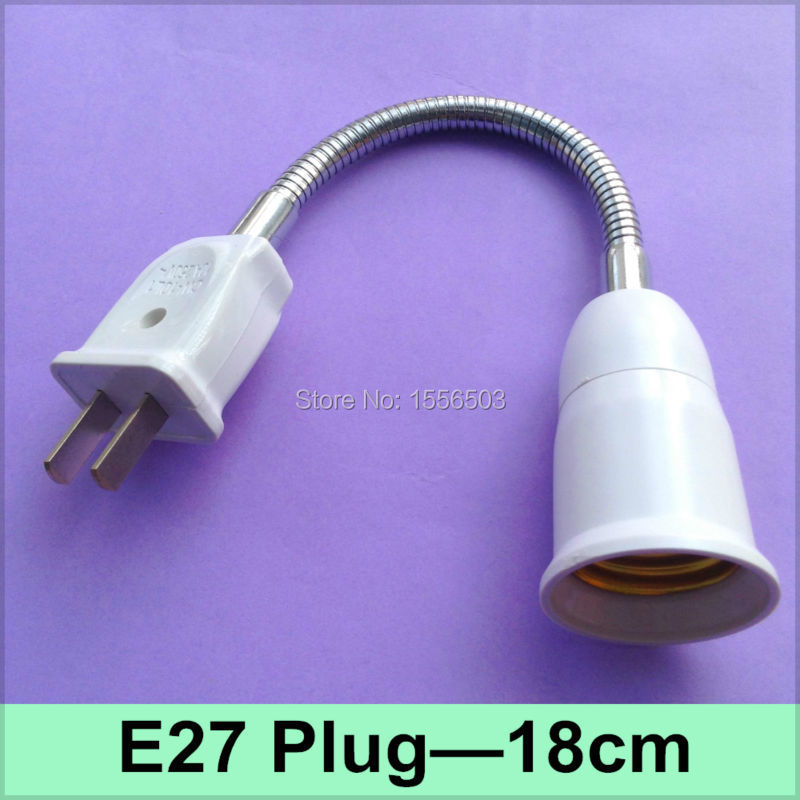 1X E27 360 Degree Universal Lamp Base Adapter 18cm Extension Wall Desk Table Lamp Holder With Plug US Stretch Fitting Converter(China (Mainland))