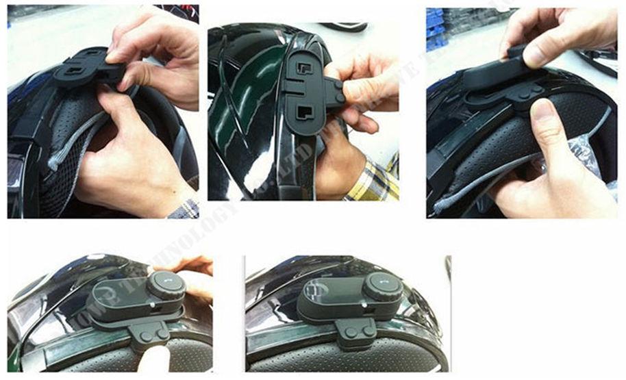 2pcs Original BT Bluetooth Interphone Helmet Wireless Motorcycle Earphones Walkie Talkie With FM Radio Helmet Bluetooth Interc