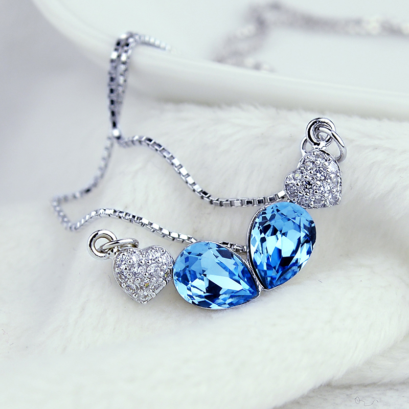jewelry using crystal elements S925 silver female Necklace clavicle Xinyu<br><br>Aliexpress