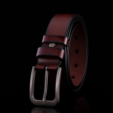 [Cohen Kevin]2015 100%100%100% Genuine Leather belt men belts for men women pin buckle jeans mens belts luxury  five colours#1(China (Mainland))