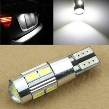 4pcs T10 501 158 W5W 5630 LED 10 SMD Canbus Error Free White High Power Car Auto Interior Side Wedge Light Bulb 12V 6500K