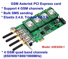 AXE4GN 1 1 Channel GSM GPRS Cell Asterisk PCI-E Card 1 SIM Modules with 1 Antenna GSM connectivity for Asterisk IP PBX(China (Mainland))