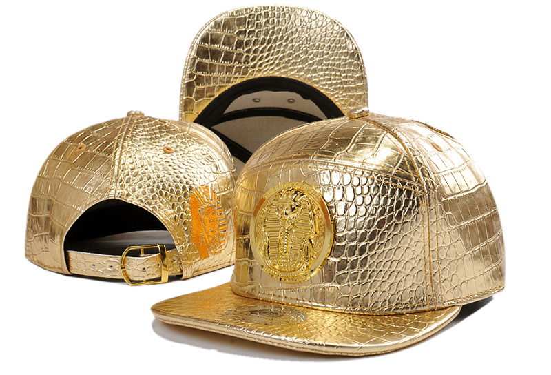 (10 style) Leather strapback hats gold color visor baseball cap outdoor cap(China (Mainland))