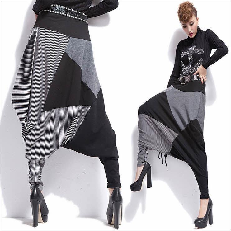 Awesome Harem Pants Men Women Baggy Sweatpants Drop Crotch Athletic