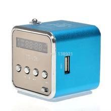 2015 tragbare td-v26 mini portable aluminiumlegierung usb speaker sound-verstärker box fm radio unterstützt tf/SD-Karte 5123(China (Mainland))