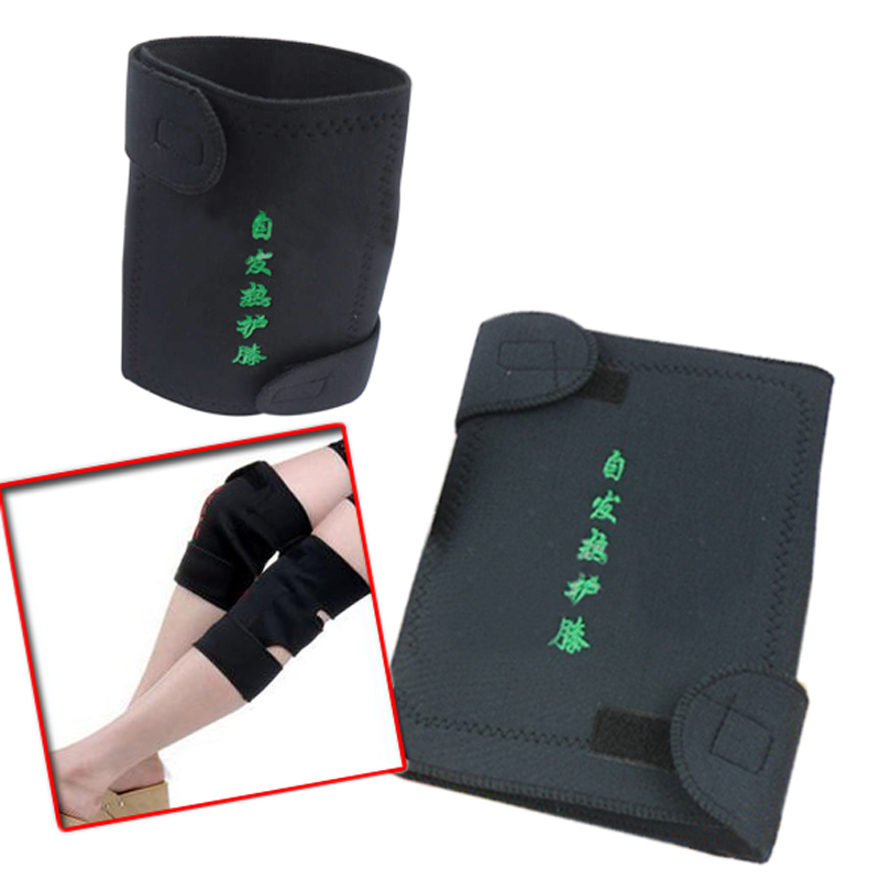 2 Pcs Knee Brace Support Spontaneous Heating Protection Magnetic Therapy Belt(China (Mainland))