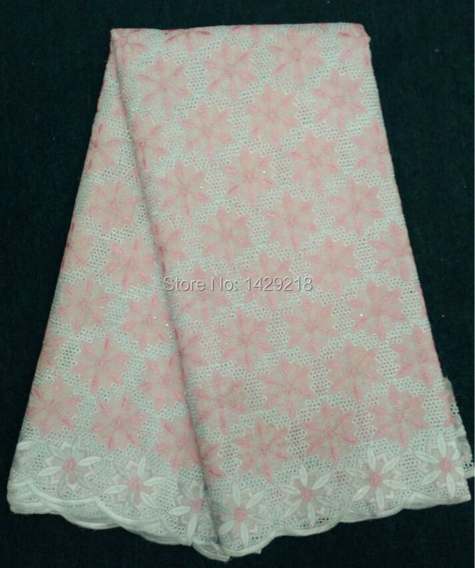 HS44-4!(5yards/PCS)Pink swiss lace fabric/African swiss voile lace high quality/cotton voile fabric for wedding cloth sewing