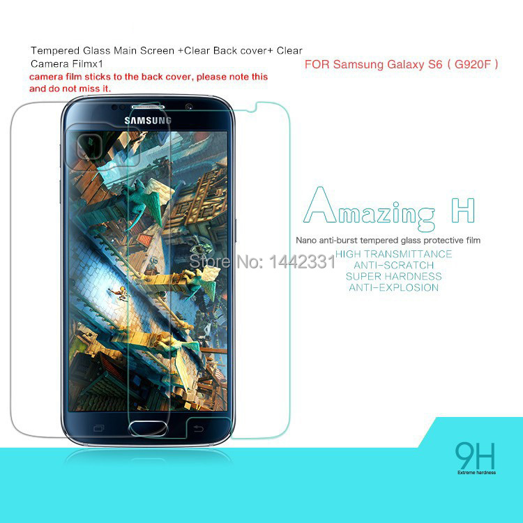1x 2015 Amazing Nanometer H Anti-Explosion Tempered Glass Screen Protector Film Samsung Galaxy S6 G9200 G920 G920F G920A - Toys!Daddy! store