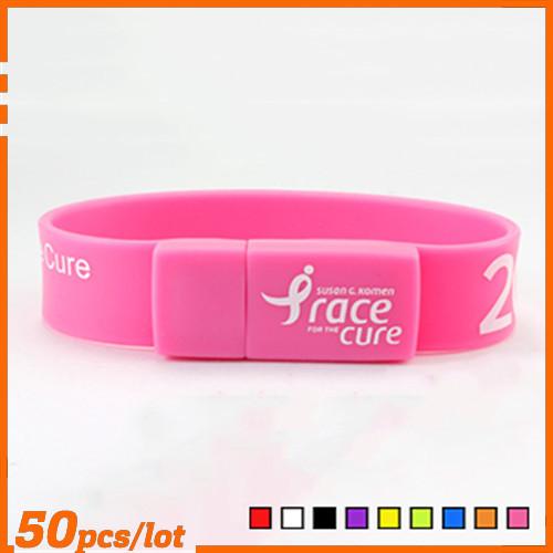 Custom LOGO Wristbands shape USB Flash Drive pen drive memory stick pendrive wholesale cheap 4GB 8GB 16GB 32GB promotion gift(China (Mainland))