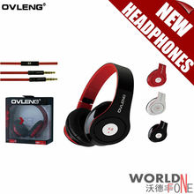 2015 Ovleng X8 3.5mm Folding Stereo Headphones&Earphones Headset with Microphone Detachable Cable Controller for PC iPhone