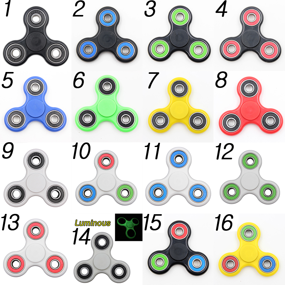 100Pcs Fidget Spinner Finger ABS EDC Hand Spinner Tri For Kids Autism ADHD Anxiety Stress Relief Focus Handspinner Toys Gift
