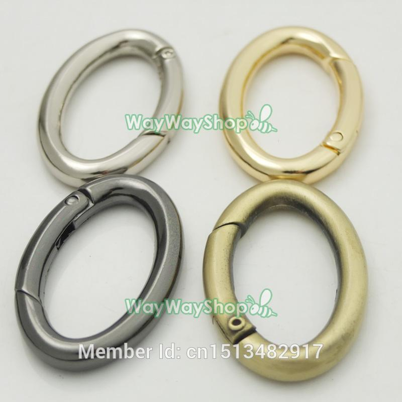 10 PCS Oval Ring 36mm Snap Clip Trigger Spring Gate for Buckle O Dee D ring Color Choice(China (Mainland))