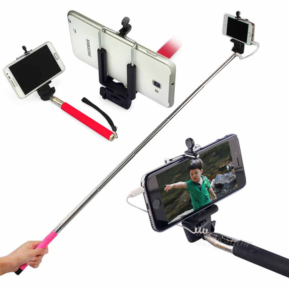 2015Hot Selfie Stick Portable and Extendable Stick Monopod Self Artifact Handheld for iPhone Android SmartPhone Self-Pole XC2031