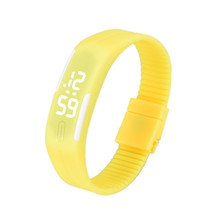 Durable Summer Style Fashion Men LED Sports Silicone Digital Watch Wholesale Fast Shipping