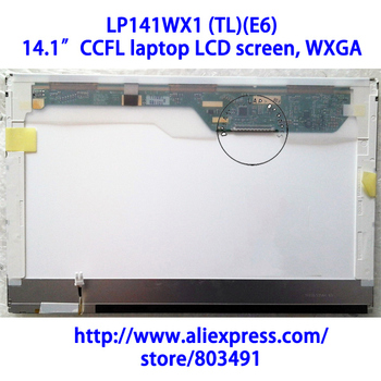 "LP141WX1 (TL)(E6) , 14.1"" laptop LCD screen, WXGA, CCFL backlight,  LP141WX3-TLE6, Grade A+, 30 pins"