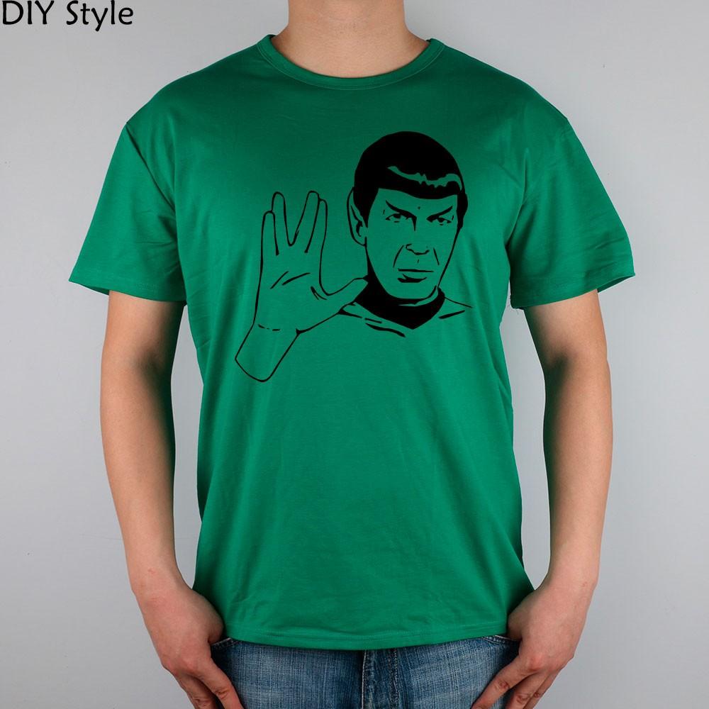 LIVE LONG AND PROSPER SPOCK STAR TREK men short sleeve T-shirt new arrival Fashion Brand t shirt for men  HTB1dJlLMpXXXXbuXXXXq6xXFXXXc