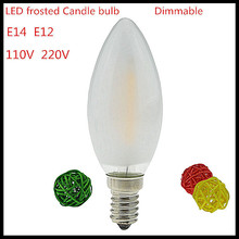 Buy 6X NEW 2W 4W 6W E14 E12 110V 220V dimmable LED Filament Candle Bulb frosted polish lamp Replace Incandescent Light Energy Saving for $11.50 in AliExpress store