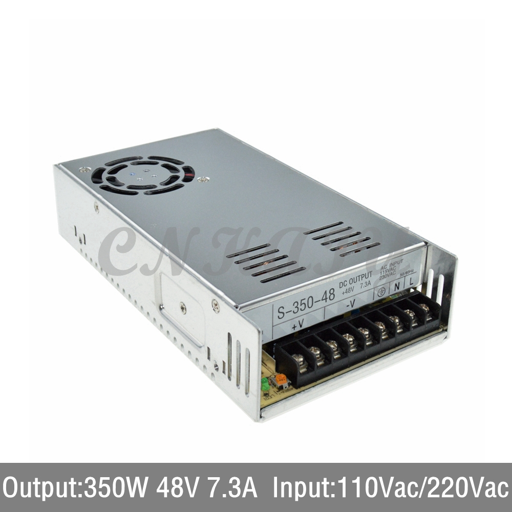 AC110/ 220V to 350W 48Vdc 7.3A LED Driver single output Switching power supply Transformer for LED Strip light express shipping<br>