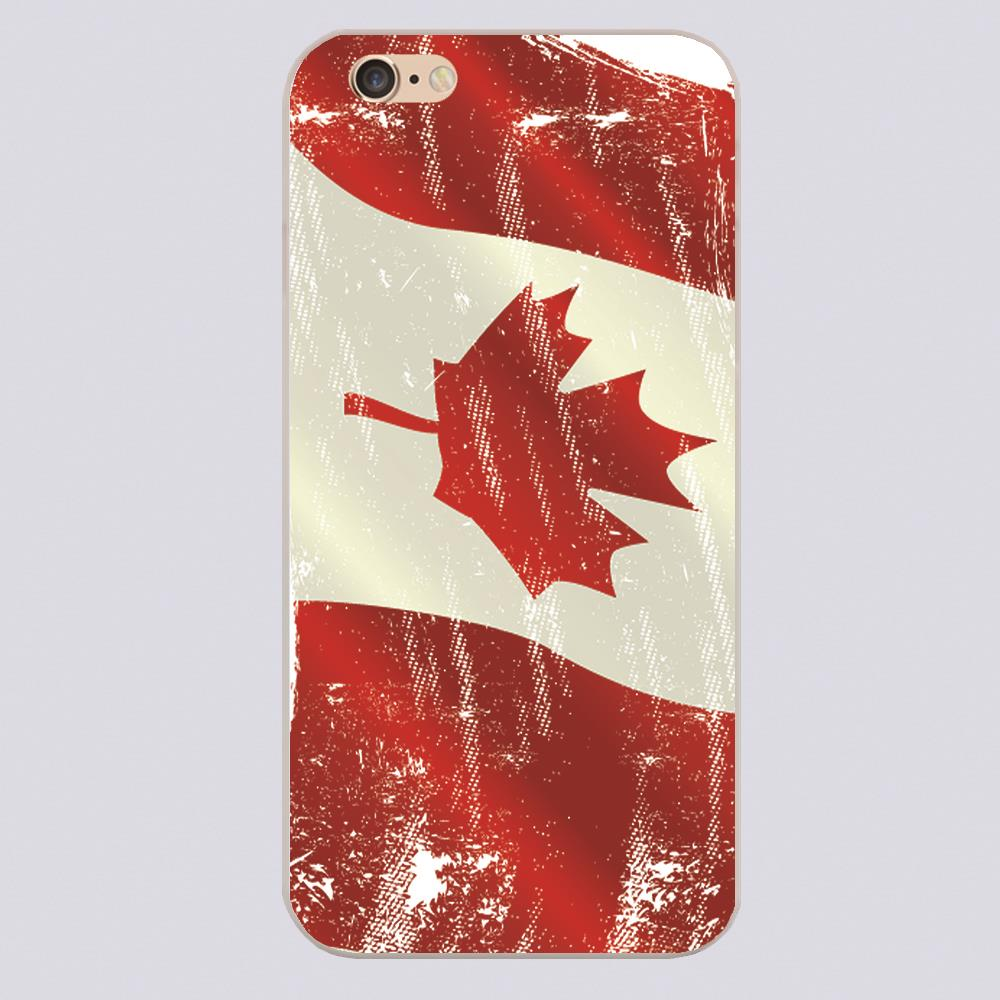 Canada flag Design case cover cell phone cases for iphone 4 4s 5 5c 5s 6 6s 6plus hard shell(China (Mainland))