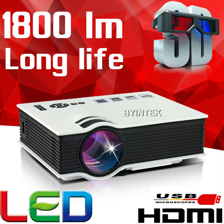New 1800lumens HDMI USB Home Theater Best HD 1080P Portable Pico LCD LED Video Mini Projector 3D Beamer Proyector(China (Mainland))