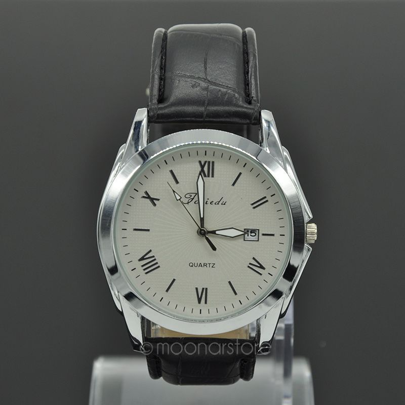 2015 Super Deal Fashion Classic Men s Watches Brand PU Leather Strap Roman Number Analog Clock