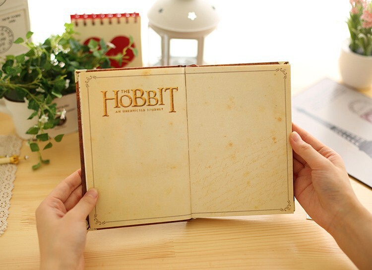 New Hobbit Notebook Vintage Hardcover Notebook for Gift Movie Hobbit Daily Memo Notepad Travel Journal A5 Size Four Designs8