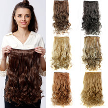 Big Discount !Hot 20inch 50cm One Piece Full Head 130g Curly Clip On Hair Extensions Synthetic Hair Extension Wholesale(China (Mainland))