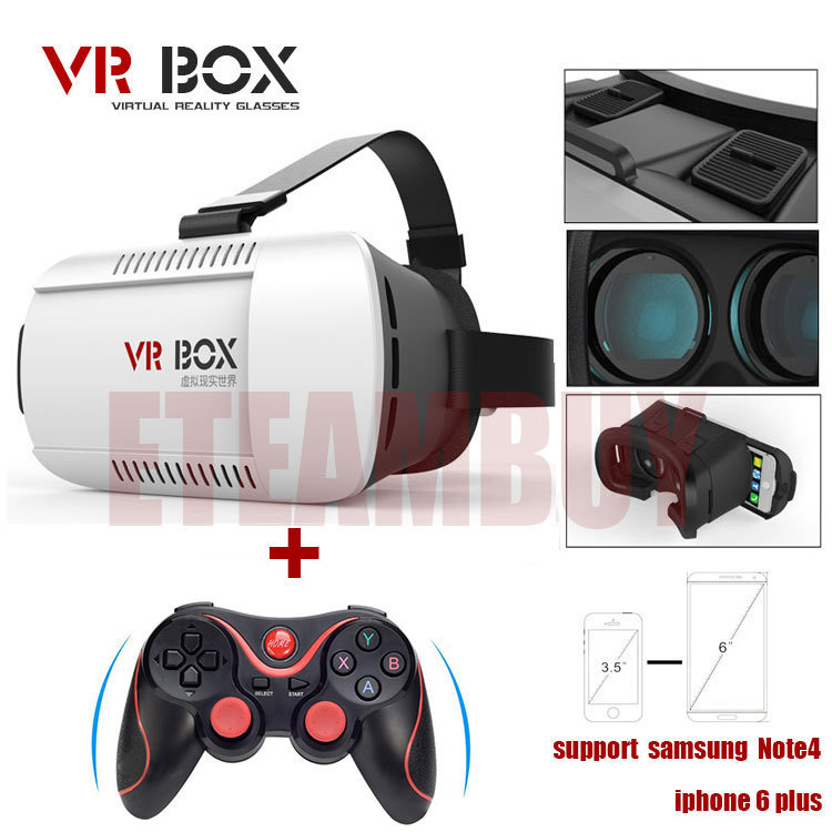 Гаджет  100% original Google cardboard VR BOX Version VR Virtual Reality Glasses + Bluetooth Wireless Mouse / Remote Control / Gamepad None Бытовая электроника