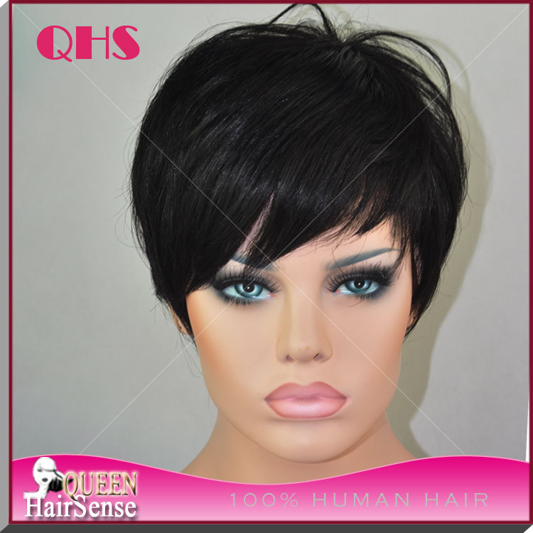 100% Brazilian Glueless Full Lace Wig Human Lace Front Bob hair Wig None Lace Wig Short wig For Black Women epacket USA(China (Mainland))