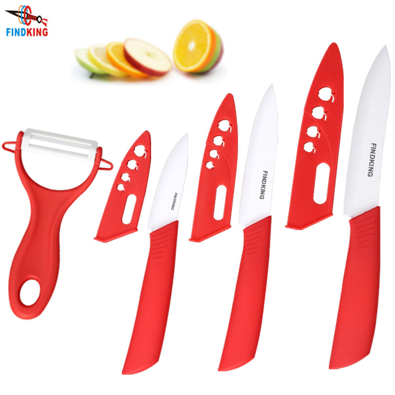 "Beauty Gifts Zirconia Ceramic kitchen knife set 3"" 4"" 5"" inch+peeler+Covers(China (Mainland))"