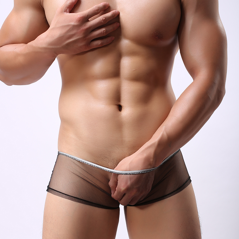 New Super Sexy Men s Sexy Sheer Underwear Boxers Sexy Transparent Men Underwear Shorts Mens Underpants
