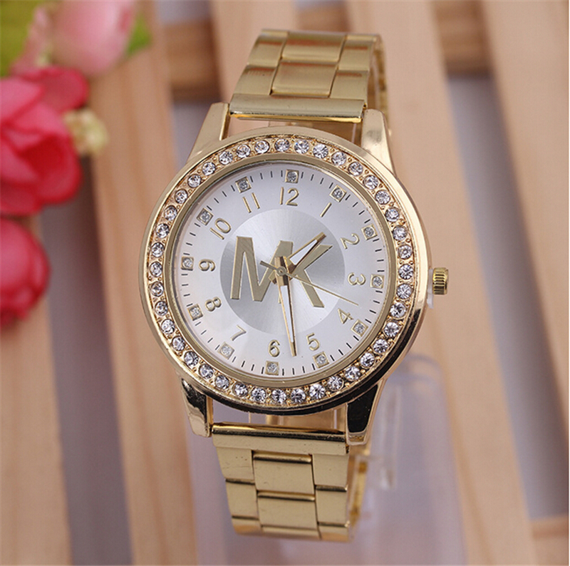 high quality gold alloy steel watches luxury brand
