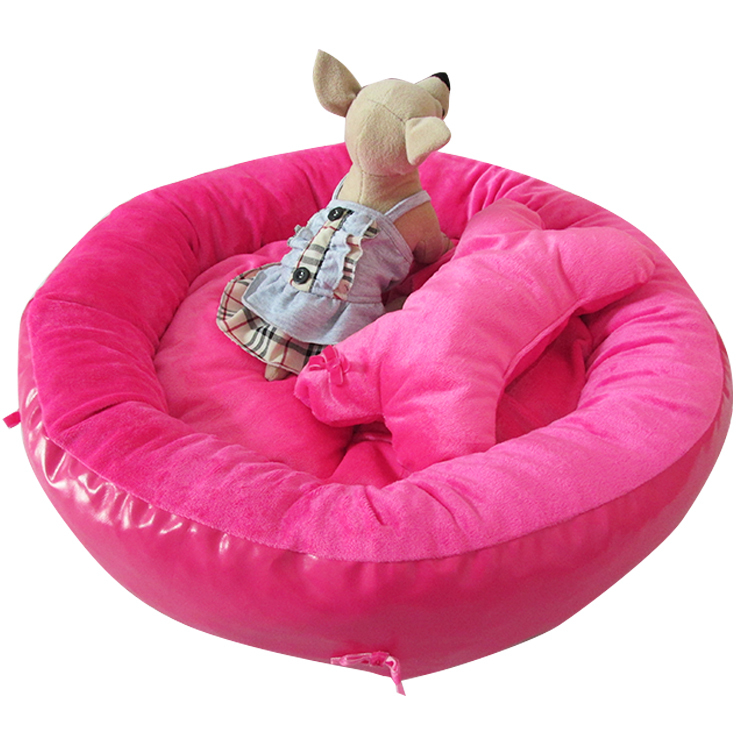 Cotton Round Style Pet Dogs Bed Three Color Selection Free Shipping Bed for dog(China (Mainland))