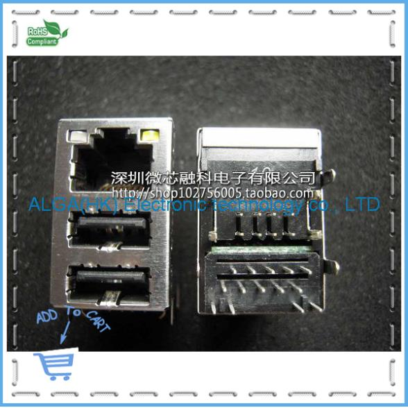 P25 @ 152 - PGD9 double USB belt filter RJ45 network interface new original free shipping(China (Mainland))