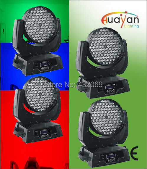 4X LOT 108x3W RGBW/RGBA 4in1 LED Moving Head Wash Light,Stag Light,Studio moving Head Light(China (Mainland))