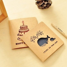 DIY Minii Cute Kawaii Animal Postcardierced Post Creeting Cards for Birthday Christmas Free  sipping 355