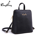 Fashion small fresh double shoulder genuine leather girls back pack 100 real leather Donghong brand bag