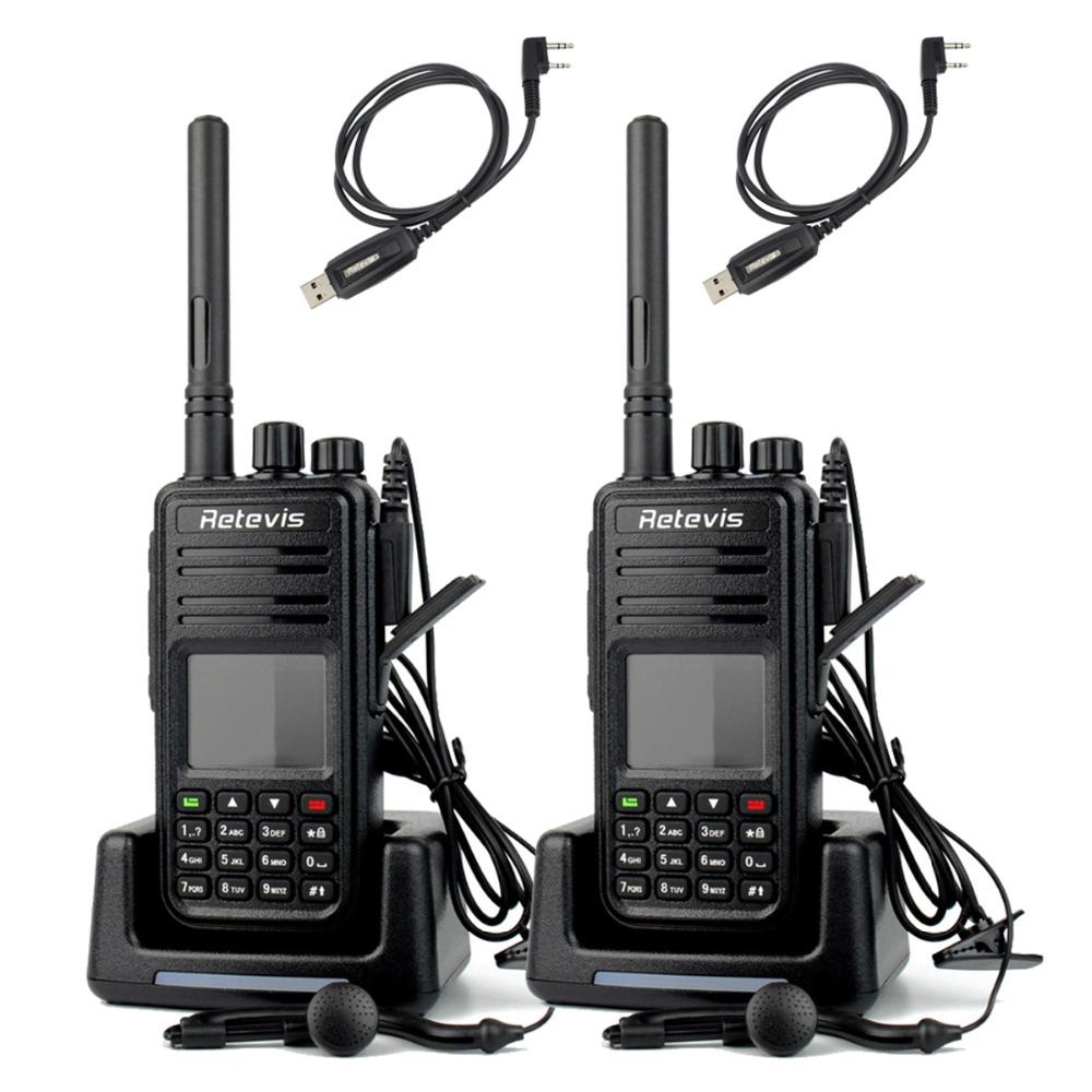 2pcs Retevis RT3 DMR Radio UHF 400-480MHz 5W 1000 CH Walkie Talkie Digital Mobile Radio VOX Ham Radio Hf Transceiver A9110A(China (Mainland))