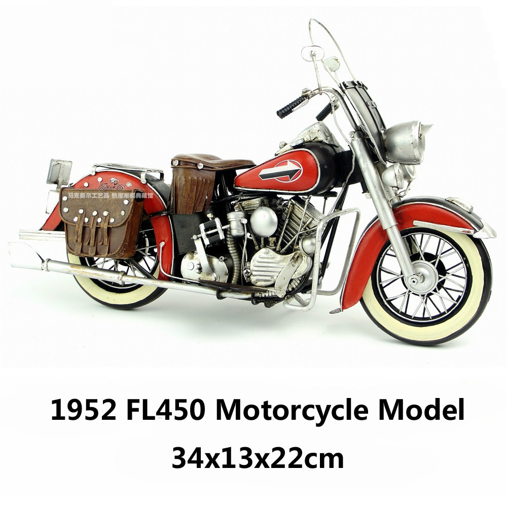 1952 HD FL450 Motorcycle Model Fine Edition handmade antique vintage metal craft collection decoration gift(China (Mainland))
