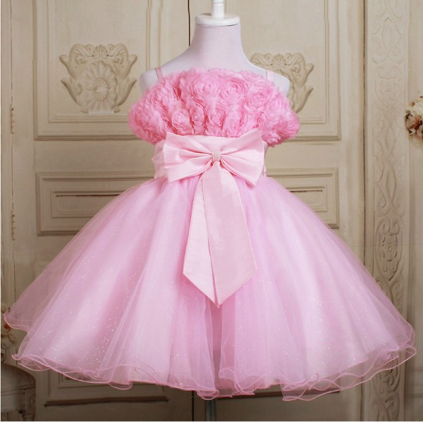 girls dresses 2015 summer children flower princess dress kids clothes party girl dresses D-033