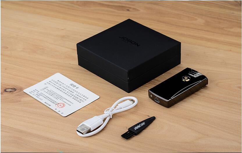 ถูก Jobon USBคู่arcชาร์จเบาโลหะบุหรี่อิเล็กทรอนิกส์เบาชายบุคลิกภาพความคิดสร้างสรรค์
